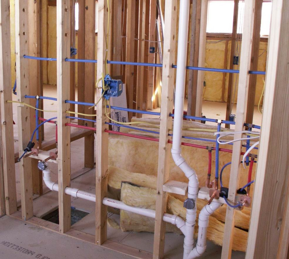 electrical system and plumbing your basement